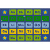 Alphabet Stars - Blue and Green - Rectangle Large Rug 1