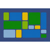 Color Block Cool Tones - Rectangle Large Rug 1