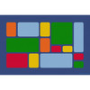 Color Block Primary - Rectangle Large Rug 1