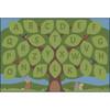 Alphabet Seating Tree - Rectangle Large Rug