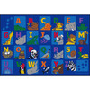 Alphabet Animals - Rectangle Large Rug 1