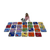 Alphabet Seating Squares with Images - Set of 26 1
