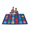 Alphabet on Circles and Squares - Rectangle Value Size Rug