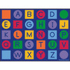 Alphabet on Circles and Squares - Rectangle Value Size Rug 1