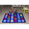 Alphabet on Circles and Squares - Rectangle Value Size Rug 2