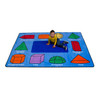3D Geometric Shapes Rug - Rectangle Small Rug 2