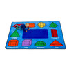 3D Geometric Shapes Rug - Rectangle Small Rug