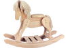 Unfinished Wooden Rocking Horse 2