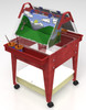"Childbrite Youth Mobile Sand and Water Activity Center Easel - 24"" Tall"