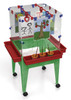 """Childbrite Youth 4 Station Space Saver Easel w/9"""" deep clear tub 1"""