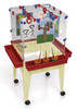 """Childbrite Youth 4 Station Space Saver Easel w/9"""" deep clear tub 2"""