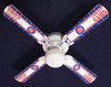 "MLB Chicago Cubs Baseball Ceiling Fan 42"" 2"