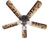 """Bear Moose Deer Rustic Cabin Lodge Ceiling Fan 52"""""""