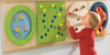 """Other Sensory Wall Panels mounted in 2 - 32"""" rail sets"""