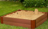 """Composite Sandbox Kit Square 4x4ft 2 Level /w Collapsible Cover, 2"""" Profile 3"""