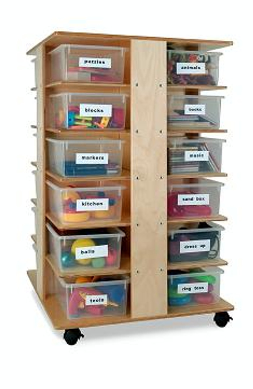 Whitney Brother Preschool Cubby Tower Art Storage Furniture Kids Storage Cubbies Daycare Classroom