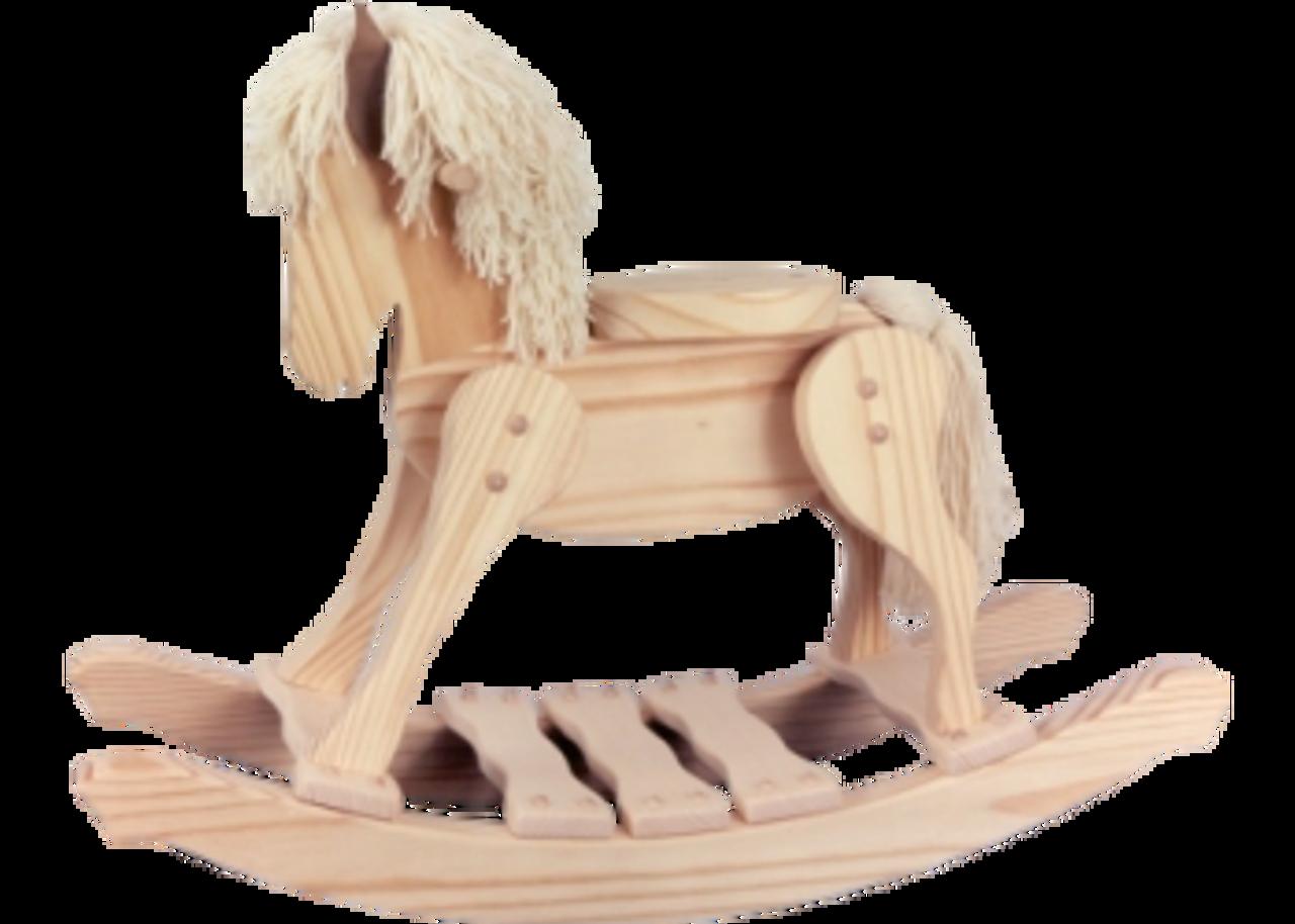 Unfinished Wooden Rocking Horse