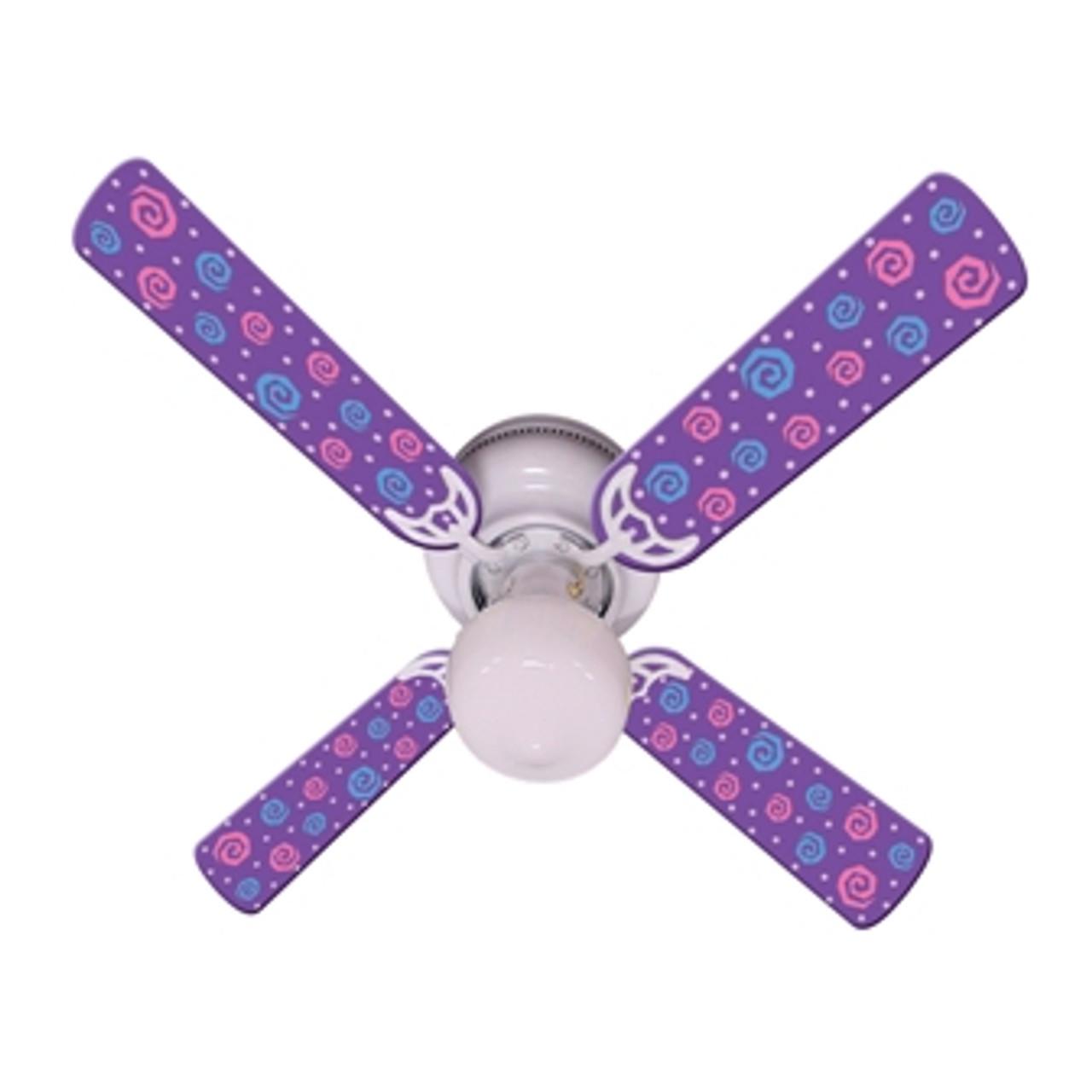 Kids Purple Party Pops Ceiling Fan 42 Ceiling Fans Kids Room Decor