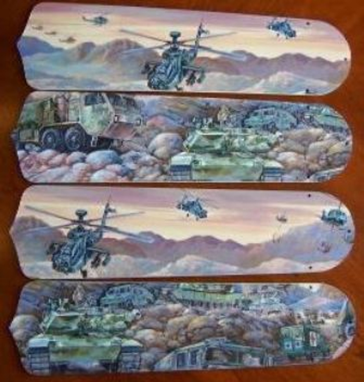 Army Tanks Military Helicopter Ceiling Fan 42 Blades Only Ceiling Fan Blades Kids Room Decor