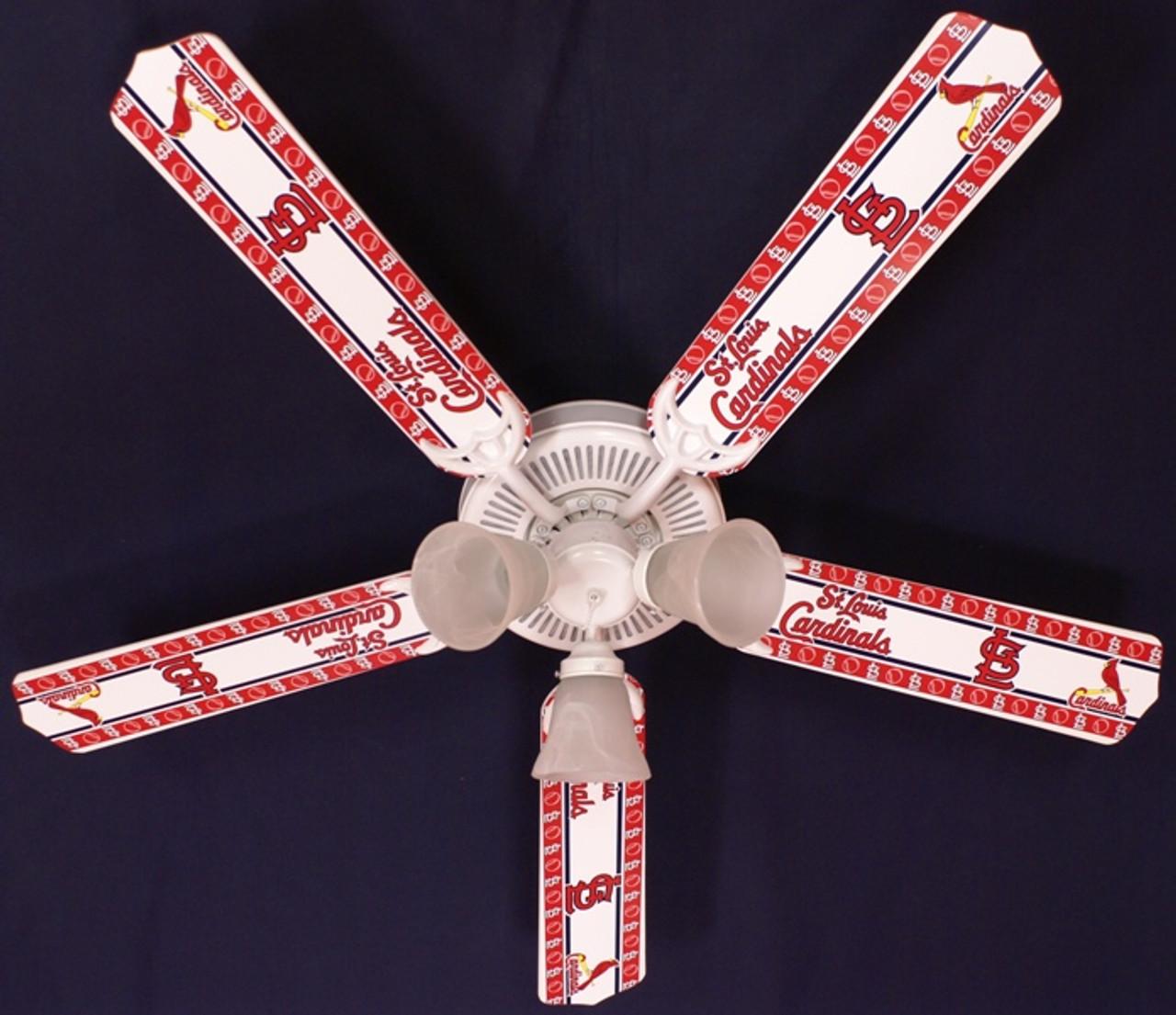 Mlb St Louis Cardinals Baseball Ceiling Fan 52 Ceiling Fans