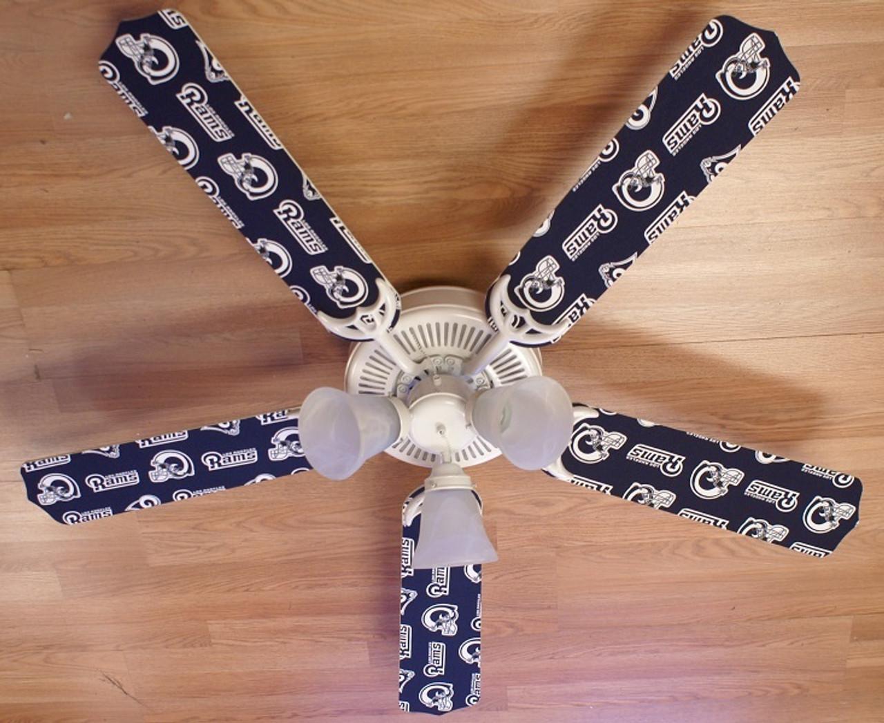 on sale bfa10 7367a NFL Los Angeles Rams Football Ceiling Fan 52