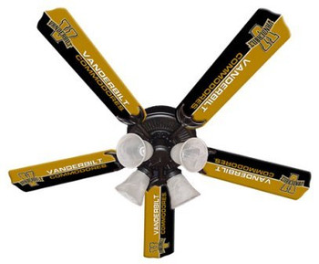 "NCAA Vanderbuilt Commodores 52"" Ceiling Fan"