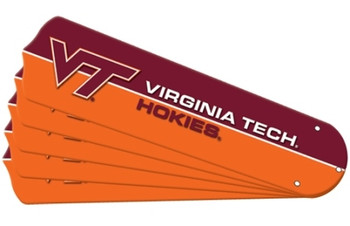 "NCAA Virginia Tech Hokies Ceiling Fan Blades For 52"" Fans"