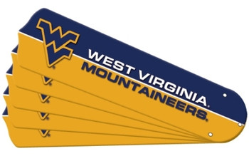 "NCAA West Virginia Mountaineers Ceiling Fan Blades For 42"" Fans"