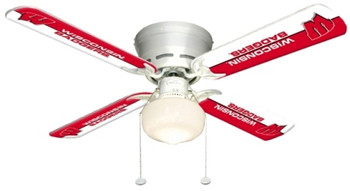 "NCAA Wisconsin Badgers 42"" Ceiling Fan"