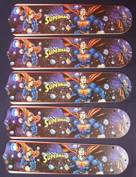 "Superman DC Hero Ceiling Fan Blades For 52"" Fans"