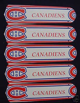 "NHL Montreal Canadians 52"" Ceiling Fan Blades Only"
