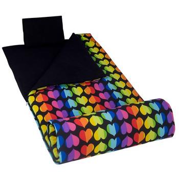 Wildkin Rainbow Hearts Original Sleeping Bag