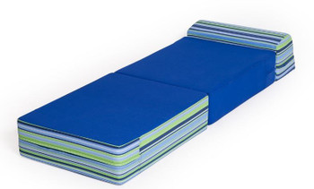 Convertible Folding Chair - Navy Blue Stripes 1