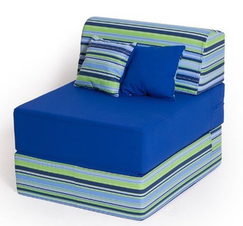 Convertible Folding Chair - Navy Blue Stripes