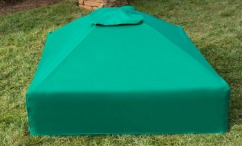 "Square Sandbox Kit w/ Telescoping Canopy & Cover - 4ft. X 4ft. X 5.5in, 1"" Profile, 300001367"