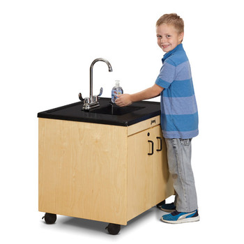 "Clean Hands Helper Portable Plastic Sink - 26"" Counter 1"