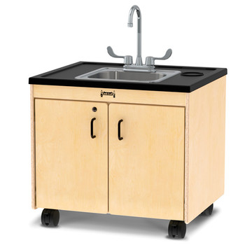 "Clean Hands Helper Portable Sink - 26"" Counter - Stainless Steel Sink"