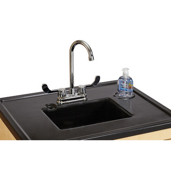 "Clean Hands Helper without Heater - 38"" Counter - Plastic Sink 1"