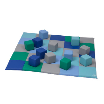Patchwork Mat & 12 Piece Block Set