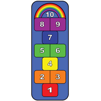 Rainbow Hopscotch Play Carpet