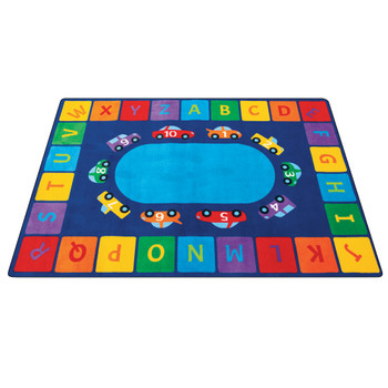 Alphabet Cars - Rectangle Small Rug