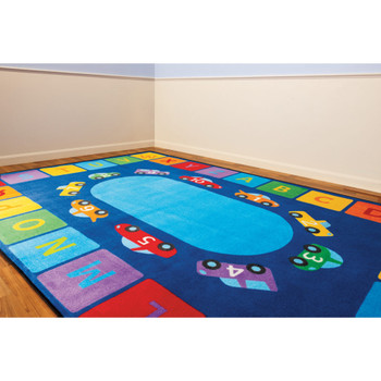 Alphabet Cars - Rectangle Small Rug 1