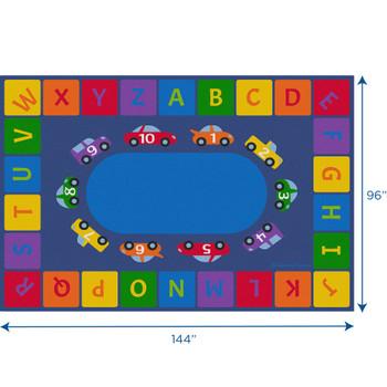 Alphabet Cars - Rectangle Large Rug 1