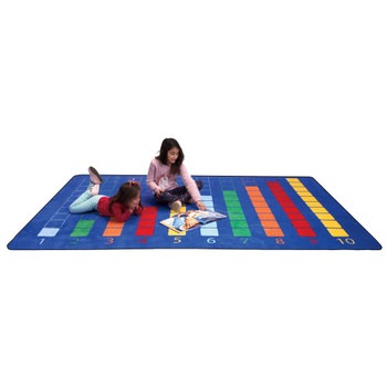 Counting Color Grid - Rectangle Large Rug