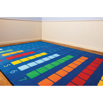 Counting Color Grid - Rectangle Large Rug 1