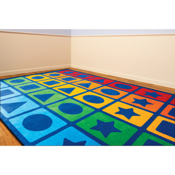 Rainbow Shapes - Rectangle Large Rug, CPR3012