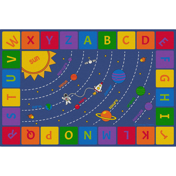 Solar System - Rectangle Large Rug 1
