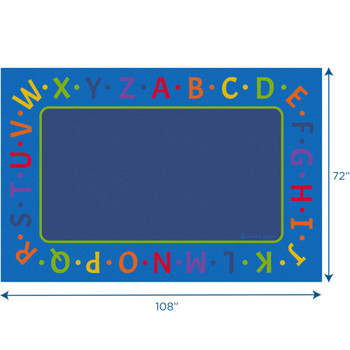 Alphabet Border - Rectangle Small Rug
