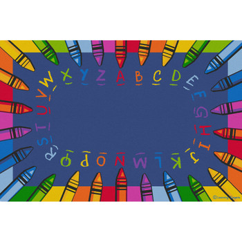 Alphabet Crayon - Rectangle Large Rug 1