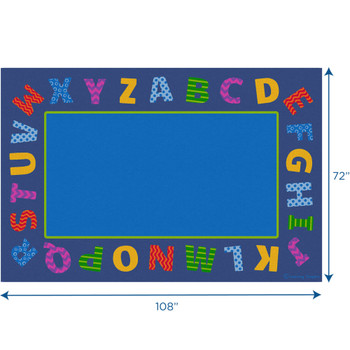 Border Alphabet Scramble - Rectangle Small Rug